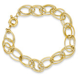 Fancy Oval Link Bracelet 7.5 Inch 14k Gold SF1550-7.5