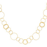 Yellow Combo Circle Chain 24 Inch 14k Gold SF1668-24