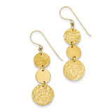 3-Tier Circle Drop Dangle Earring 14k Gold SF1690