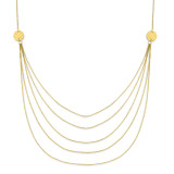 Five Strand Necklace 18 Inch 14k Gold SF1862-18