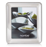 Nambe Braid Picture Frame 8 Inch x 10 Inch Chrome Plate