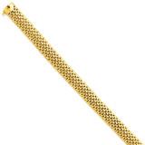 9.25mm Polished Mesh Bracelet 7.25 Inch 14k Gold SF596-7.25