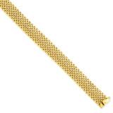 12.5mm Polished Mesh Bracelet 7.25 Inch 14k Gold SF597-7.25