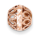 Diamond-cut Filigree Ball Chain Slide 14k Rose Gold SL143