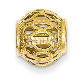 Filigree Ball Chain Slide 14k Gold Diamond-cut SL144