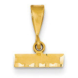 Casted Small Diamond Cut Top Charm 14k Gold SMTOP