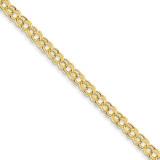 Lite 5mm Double Link Charm Bracelet 7.25 Inch 14k Gold SSD1-7.25