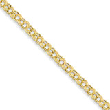 Lite 5mm Double Link Charm Bracelet 8.25 Inch 14k Gold SSD1-8.25