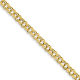 Lite 5.5mm Double Link Charm Bracelet 7 Inch 14k Gold SSD2-7