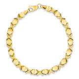 Fancy Bracelet 7 Inch 14k Gold ST638-7