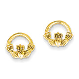 Claddagh Post Earrings 14k Gold TC557