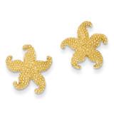 Starfish Post Earrings 14k Gold TC586