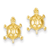 Turtle Post Earrings 14k Gold TC598