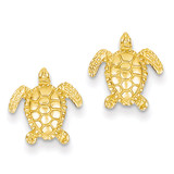 Sea Turtle Post Earring 14k Gold TC604