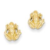 Mini Frog Post Earrings 14k Gold TC605