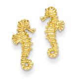 Mini Seahorse Post Earrings 14k Gold TC610