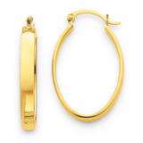 Lightweight Oval Hoop Earrings 14k Gold TC658