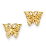 Butterfly Earrings 14k Gold Diamond-cut TC746