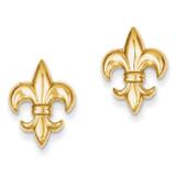 Small Fleur-De-Lis Earring 14k Gold TE619