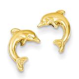 Dolphin Post Earrings 14k Gold TE620