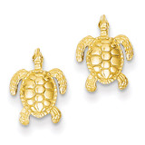 Sea Turtle Post Earrings 14k Gold TE627