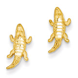 Alligator Earrings 14k Gold Diamond-cut TF522