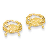 Crab Post Earrings 14k Gold TF524