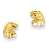 Eagle Earrings 14k Gold Diamond-cut TF539