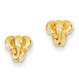 Elephant Earrings 14k Gold TF540