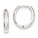 Hinged Hoop Earrings 14k White Gold TH266
