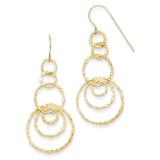 Dangle Circles Earrings 14k Gold TL498