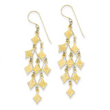 Chandelier Earrings 14k Gold Diamond-cut TL519