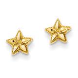 Diamond-cut Starfish Post Earrings 14k Gold Polished TM782