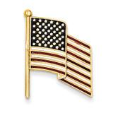 Enameled Flag Pin Charm 14k Gold TT39