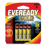 (4) Pack of Eveready Gold ABatteries WBAAA
