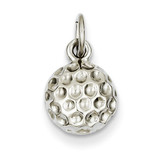 Golf Ball Charm 14k White Gold WCH123