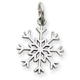 Snowflake Charm 14k White Gold WCH60