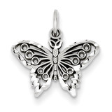 Butterfly Charm 14k White Gold WCH80