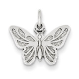 Butterfly Charm 14k White Gold WCH81