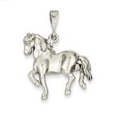 Horse Charm 14k White Gold WCH88