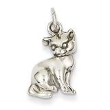 Cat Charm 14k White Gold WCH92