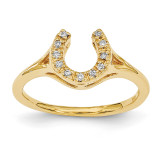 Diamond Horseshoe Ring 14k Gold Polished X1286AA