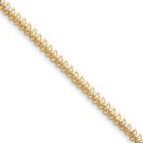 Diamond tennis bracelet 14k Gold X2001AAA