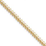 Diamond tennis bracelet 14k Gold X2005AAA