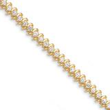 Diamond tennis bracelet 14k Gold X2006AAA