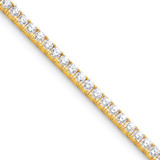 Diamond tennis bracelet 14k Gold X2048AAA