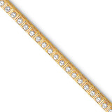 3mm Diamond Tennis Bracelet Mounting 14k Gold X2163