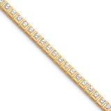 3.4mm Diamond Tennis Bracelet Mounting 14k Gold X2164