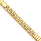 2.4mm Diamond Tennis Bracelet Mounting 14k Gold X2167