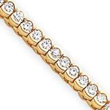 Diamond tennis bracelet 14k Gold X2319AA